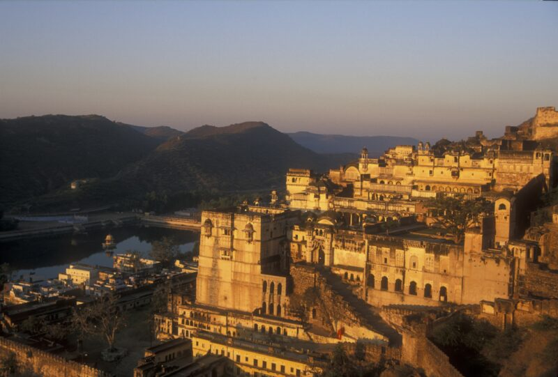 © Jeremy Richards, Dreamstime.com lizensiert für a&e erlebnisreisen__3862755__Magnificent ornate palace with hidden terraces and gardens. Bundi, Rajasthan, India