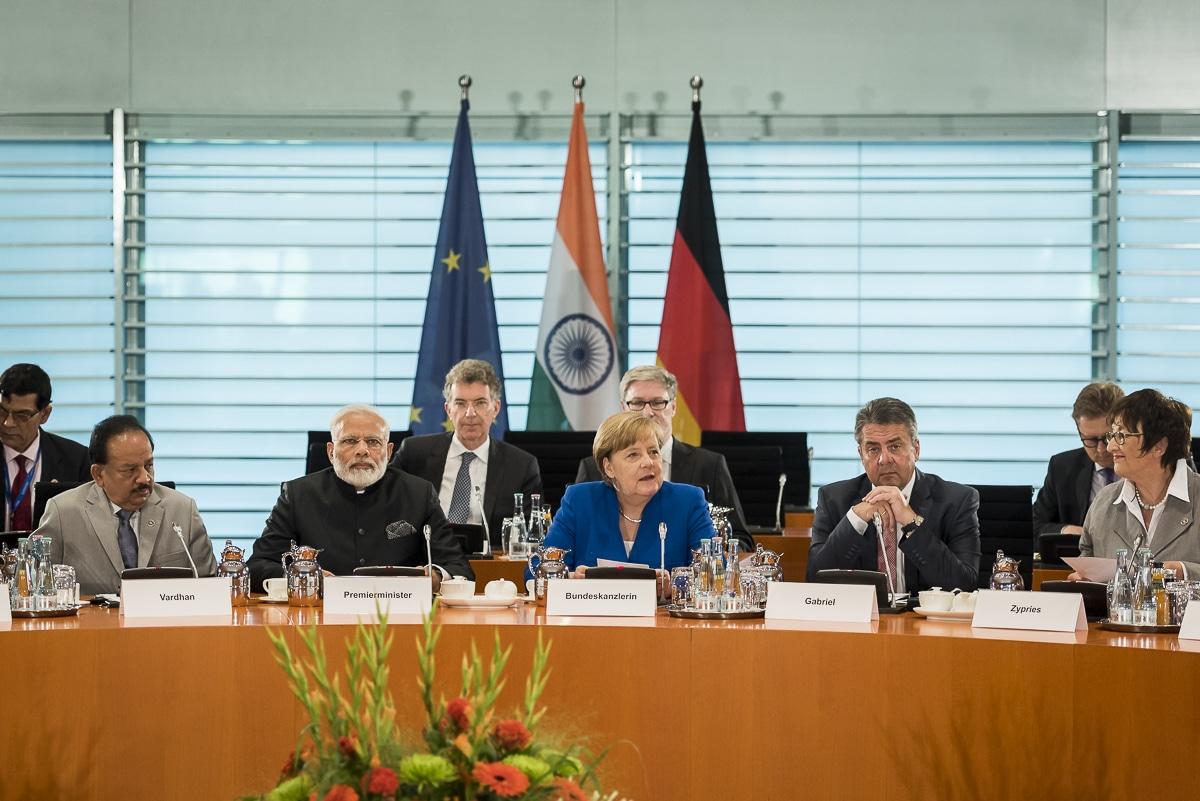 Neben den Schwerpunkten aus Wirtschaft und Technologie, Klimapolitik und Entwicklung beraten sich beide Regierungen auch zu G20-Themen. Foto: Bundesregierung/Kugler