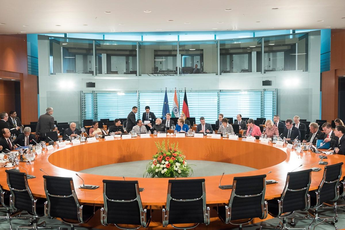 Ebenso stehen regionale und globale Fragen auf der Agenda, zu denen die deutsche und die indische Regierung auch Vereinbarungen treffen. Foto: Bundesregierung/Kugler