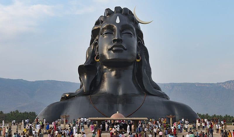 Adiyogi Shiva-Büste in Coimbatore (Tamil Nadu)