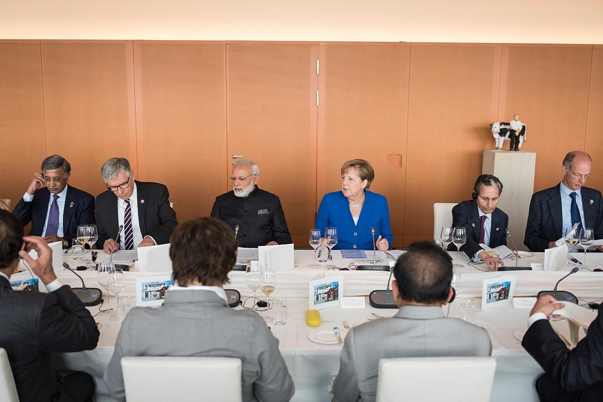 Angesichts der großen Herausforderungen des Klimawandels zeigt sich Merkel beeindruckt, wie Indien den Ausbau der erneuerbaren Energien beschleunige. Foto: Bundesregierung/Kugler