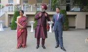 Botschafter Singh und seine Frau mit Abhinav Bindra