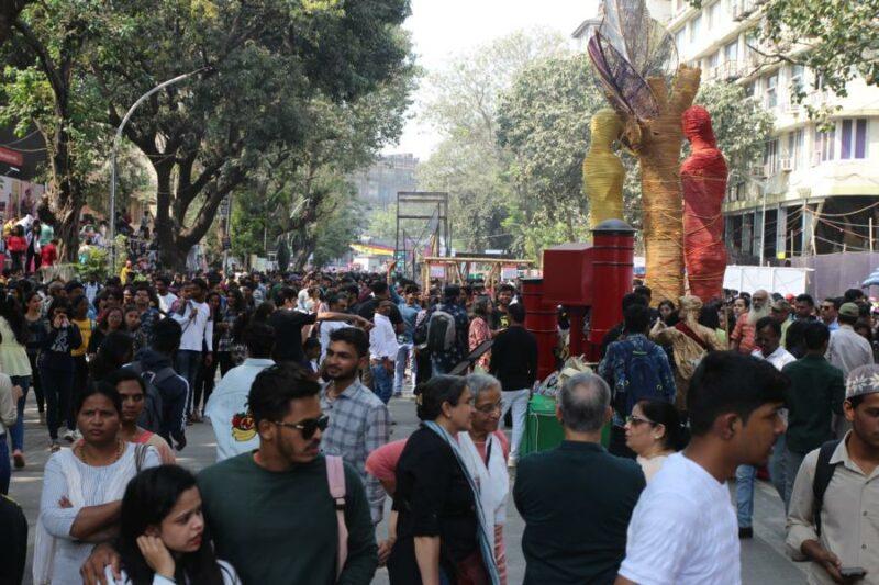 "Blick auf das ""Kala Ghoda Festival"" in Mumbai Foto: www.jowapress.de"