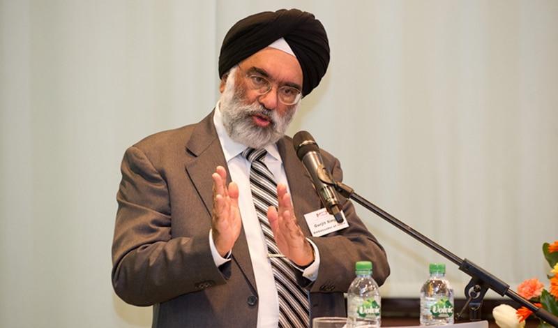 Botschafter Gurjit Singh bei der Wirtschaftsveranstaltung in der Indischen Botschaft Berlin am 16. März 2016. Foto: Indische Botschaft Berlin