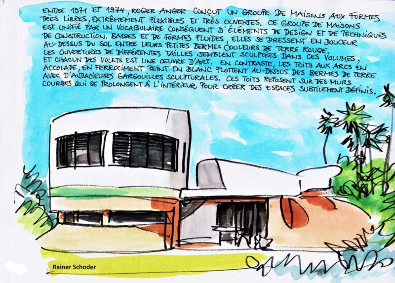 Auroville Villa mit franz Text
