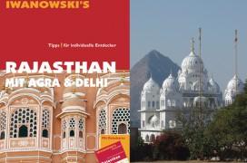 Titel des Reiseführers Rajasthan sowie ein Ausschnitt aus einem Innenfoto
