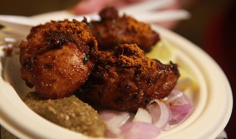 Mmhh, köstlich! Huhn, wie es in Karnataka zubereitet wird. Foto: Delhi Street Food Festival