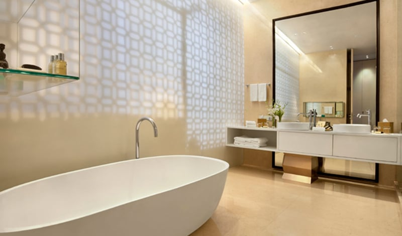 Badezimmer der Executive Suite. © Foto: Taj Hotels