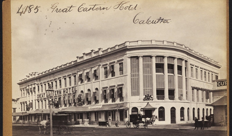 So sah das Great Eastern Hotel Kolkata um 1870 aus.