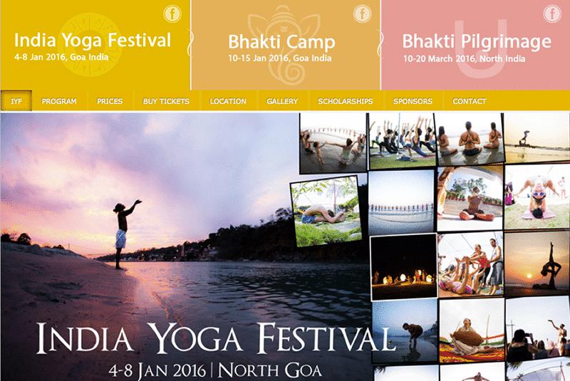 India Yoga Festival 2016 (Webseite)