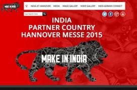 Infos zur Beteiligung Indiens an der Hannovermesse 2015 auf www.india-at-hannover.com (Screenshot der Startseite)