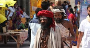 Heilige Männer auf der Simhastha Kumbh in Ujjain, Foto: Guido Münch