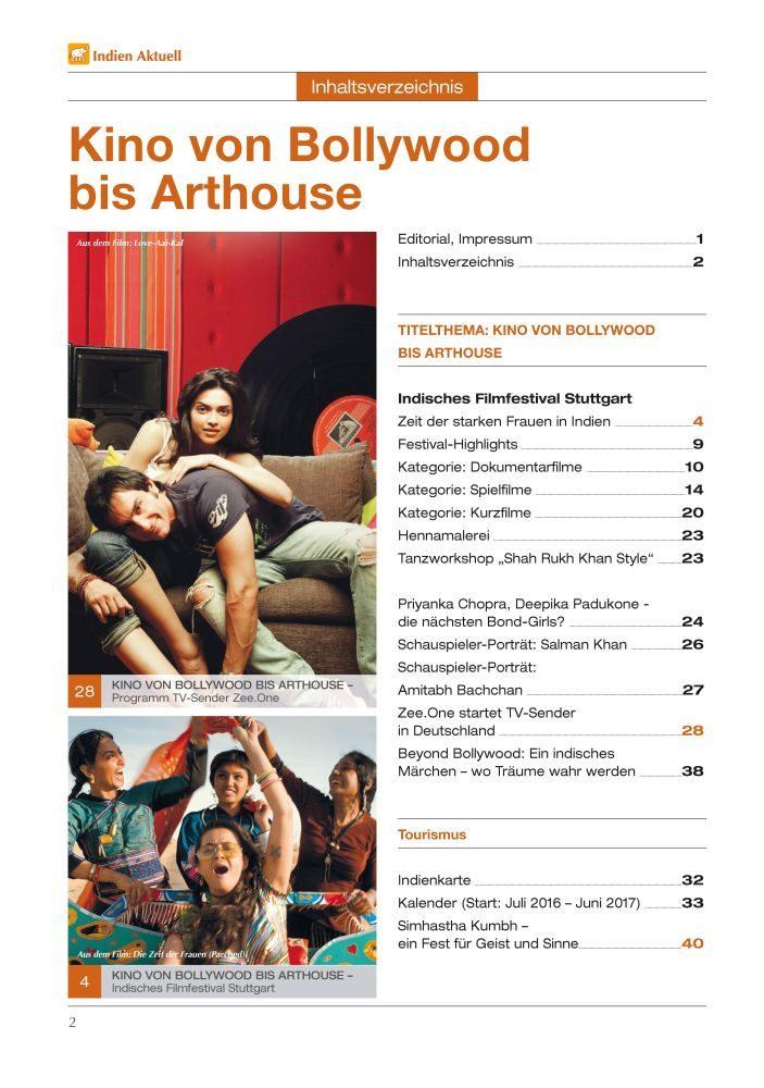 Vorschau INDIEN aktuell Magazin 02/2016