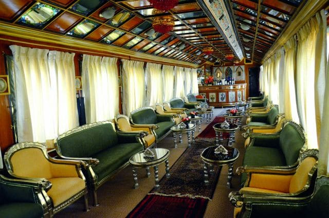 Bibliotheks-Salon im Palace on Wheels, Foto: Lotus Travel Service