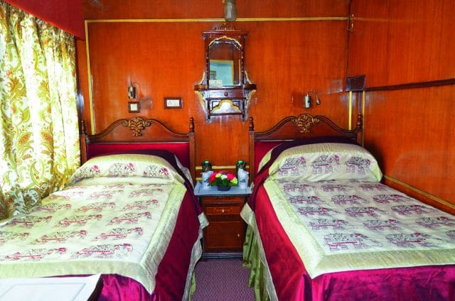 Doppelkabine im Palace on Wheels, Foto: Lotus Travel Service