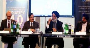 """Botschafter Gurjit Singh (2. v. r.) beim """"Make in India Mittelstand (MIIM)""""-Workshop auf der Hannover Messe. Foto: Indische Botschaft Berlin"""