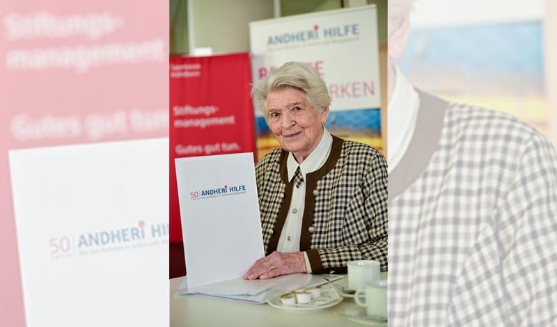Rosi Gollmann, die Gründerin der ANDHERI HILFE