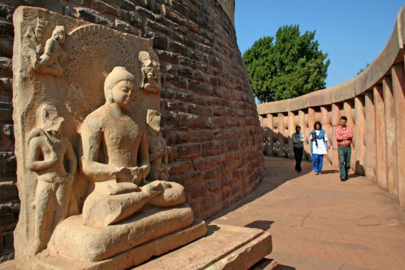 Der buddhistische Pilgerort Sanchi