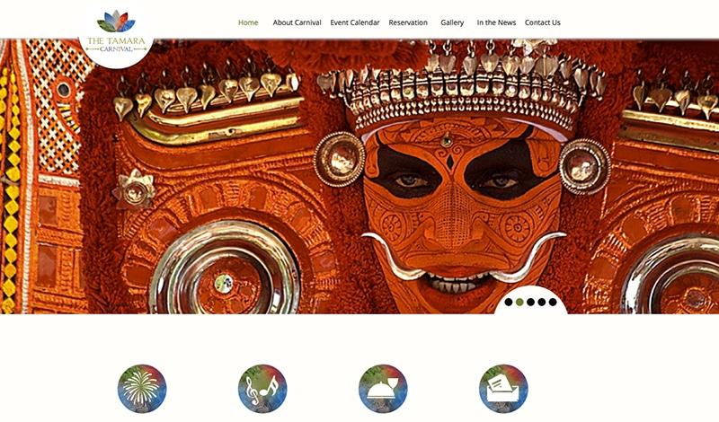 Tamara Carnival (Bildschirmfoto der Webseite)