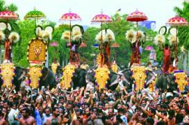 Das Elefantenfestival in Thrissur. © Foto: Reiner Sahm