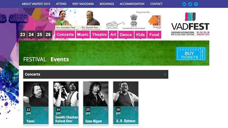 Webseite VadFest.com