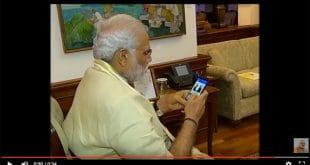 Ausschnitt aus dem Werbevideo für die Narendra Modi App