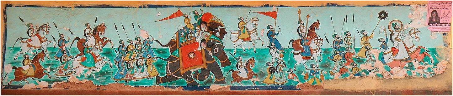 Wandgemälde in Bundi. Foto: Nevil Zaveri