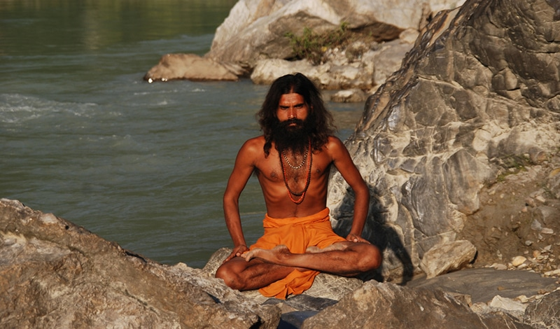 Swami in Rishikesh.
