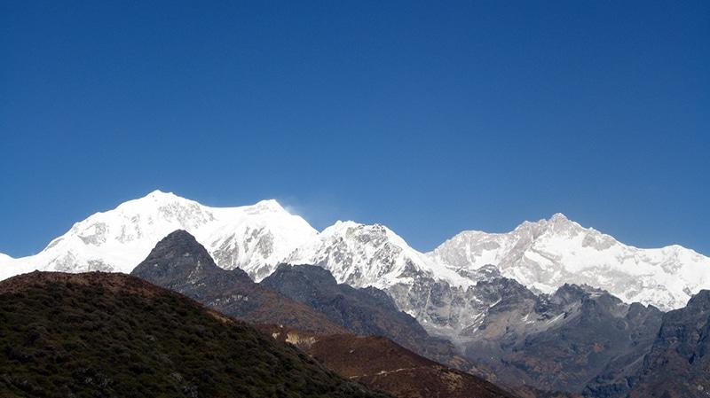 Der Kangchendzonga (deutsch: ??), der dritthöchste Berg Indiens. Foto: Amre