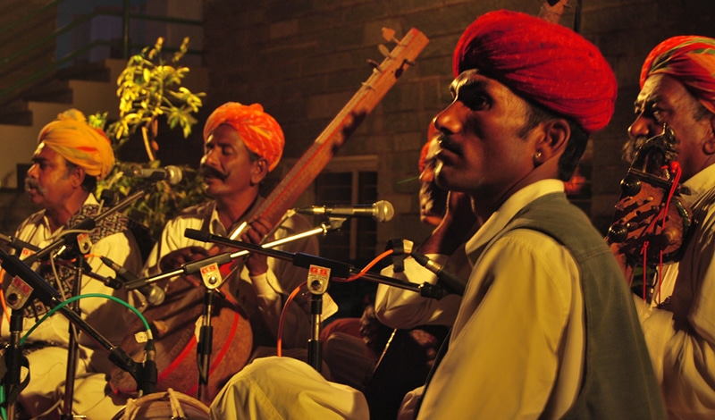 Musiker beim Kabir Festival. Foto: Ankkit Modi