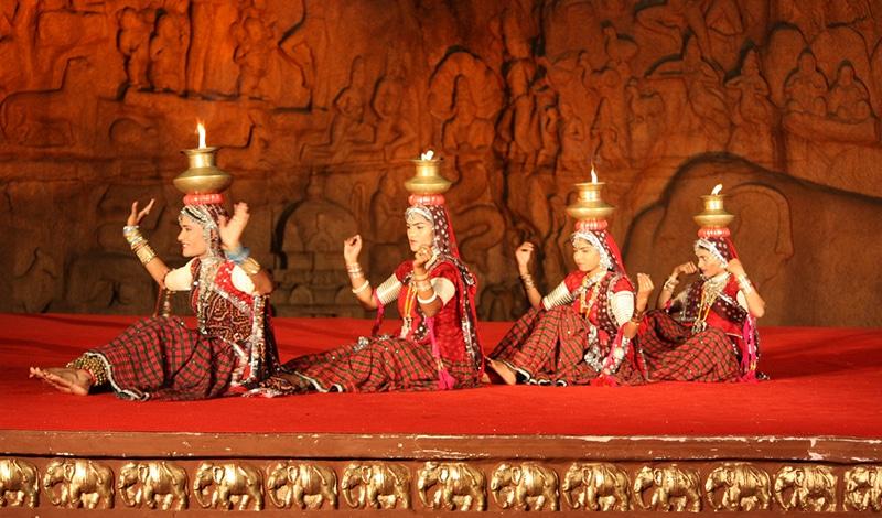 Tanzfestival in Mamallapuram
