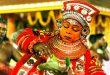 Masken beim Theyyam
