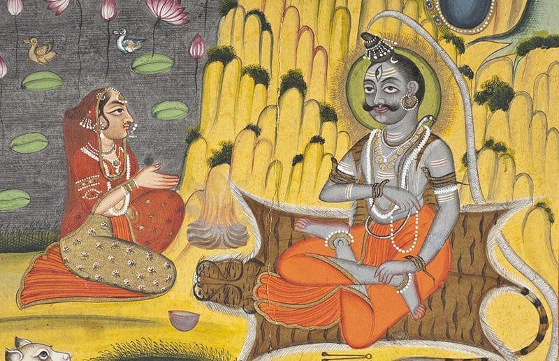 Parvati und Shiva