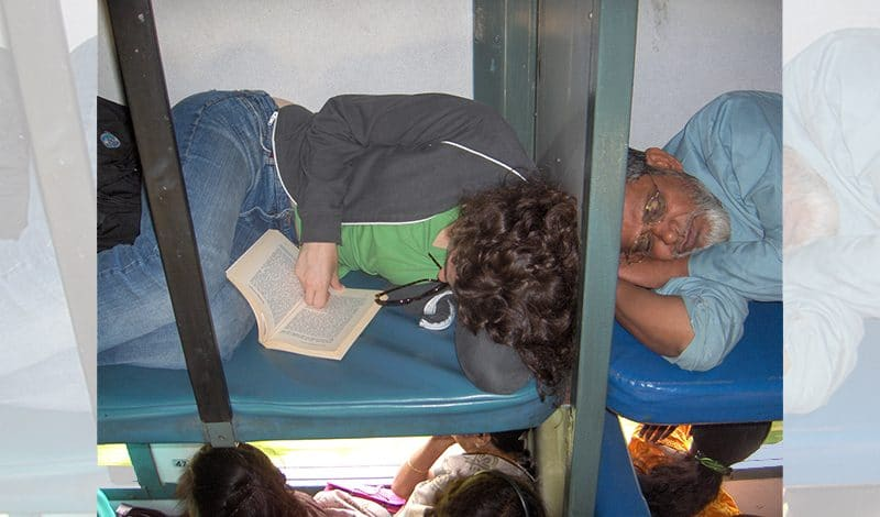 Sleeper in einem indischen Zug