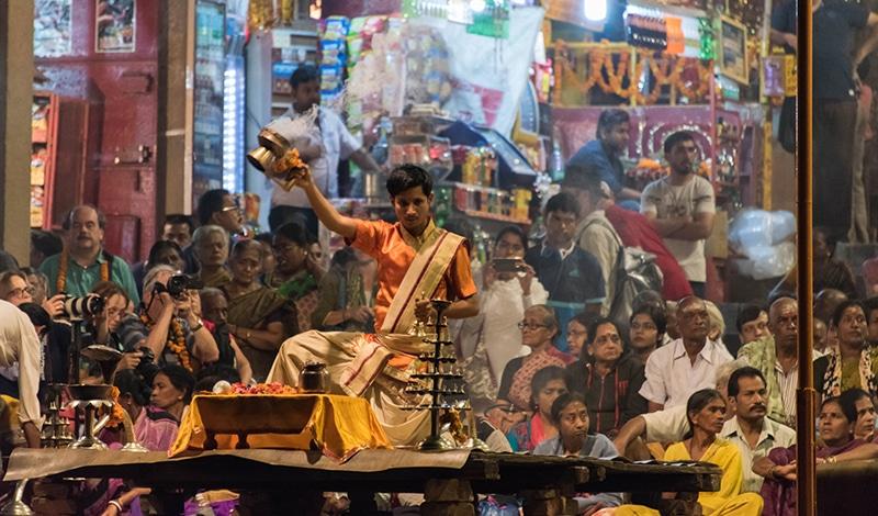 Aarti in Varanasi.