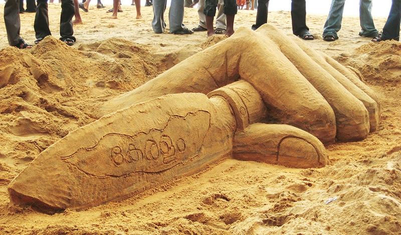 Sandkunst in Vollendung. Foto: Ekan