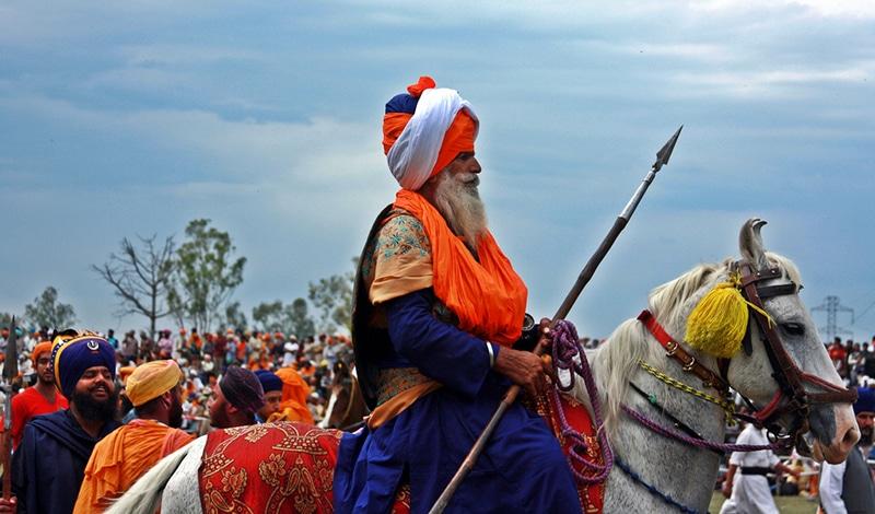 Ein stolzer Sikh-Krieger bei Hola Mohalla. Foto: Gaurav Agrawal