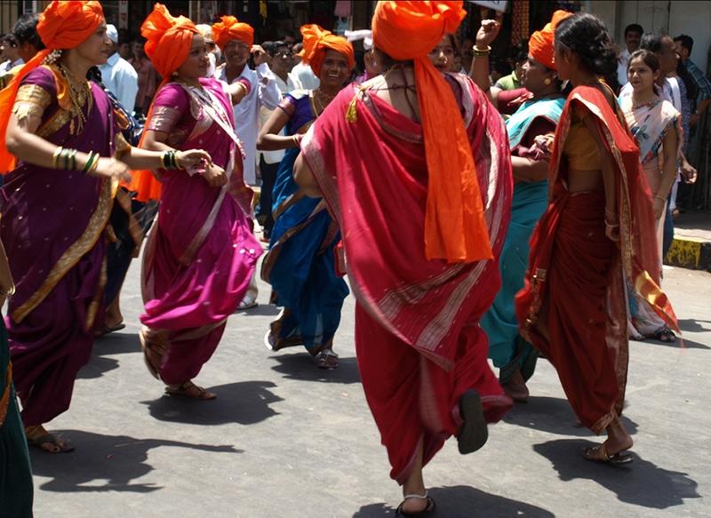 Fröhlich wird das neue Jahr in Mumbai begrüßt. Foto: Harini Calamur