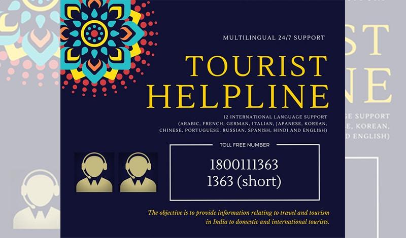 Hotline für Touristen in Indien