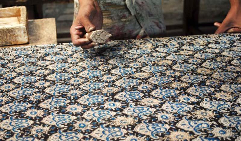 indisches Stoffdruckverfahren