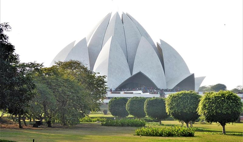 Der Lotus-Tempel in Delhi