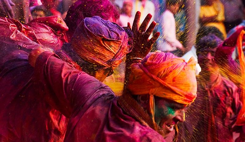 Holi in Indien. Foto: Joaquin Murillo