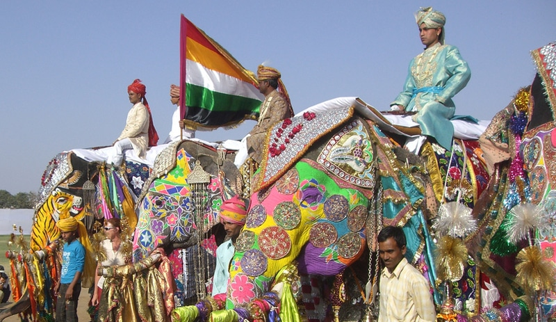 Elefantenparade in Jaipur. Foto: John Roberts