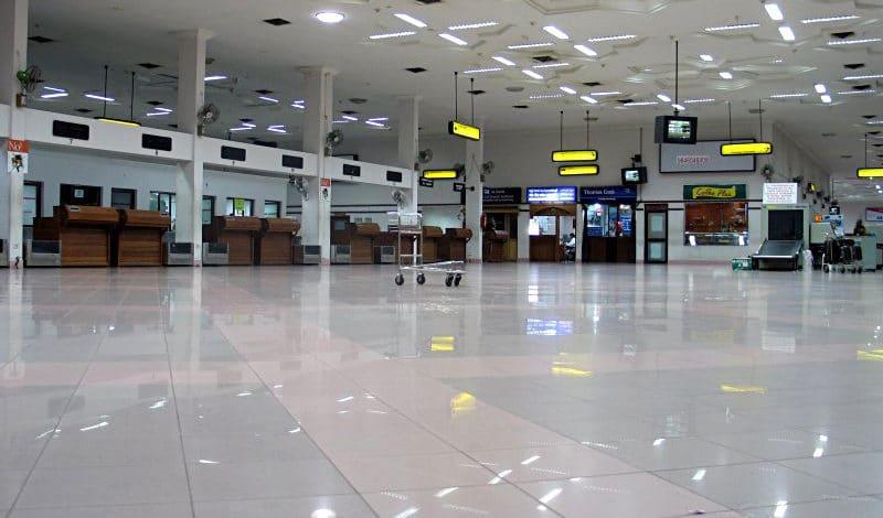 So leer wird es von November 2019 bis März 2020 tagsüber in der Abfertigungshalle des Flughafens von Kochi. Foto: International Airport Cochin