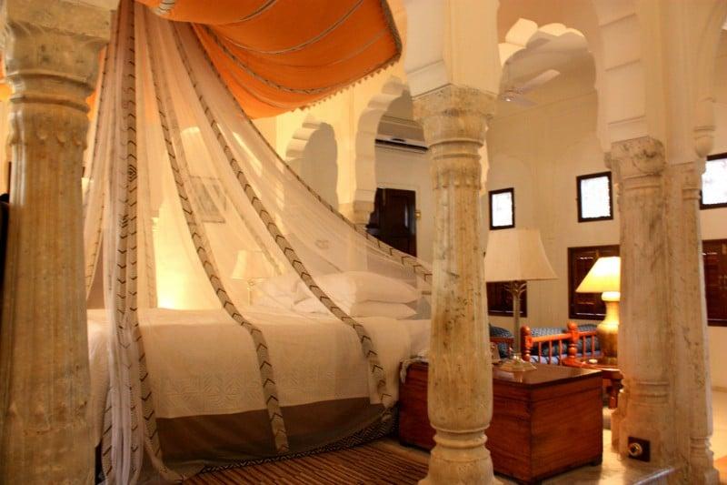 Samode Palace, Zimmer 216. Foto: Maja