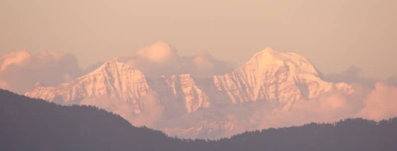 Das beeindruckende Panorama des Himalaya - von Mussoorie aus betrachtet. Foto: Nagesh Kamath