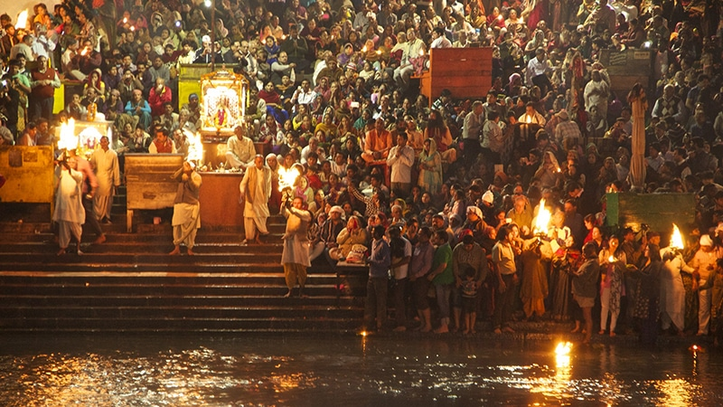 Ganga Aarti in Haridwar. Foto: New Delhices