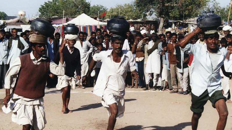 Ungewöhnliche Wettkämpfe auf der Nagaur Fair. Foto: Nick Leonard