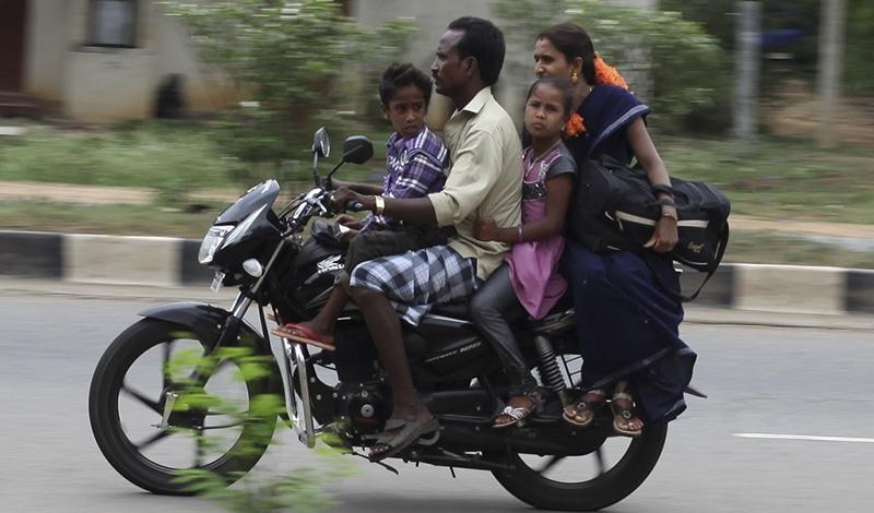 In Indien sind Motorräder Familienfahrzeuge. Das Bike-Festival richtet sich mehr an Biker. Foto: Nicolas Mirguet