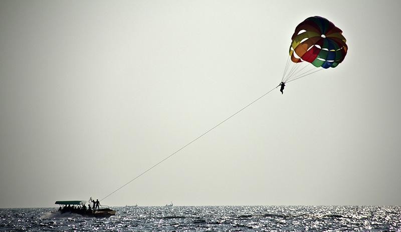 Wassersport in Goa. Foto: Nilesh